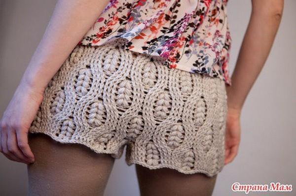 szorty na szydełku, crochet shorts, szydełkowe szorty,