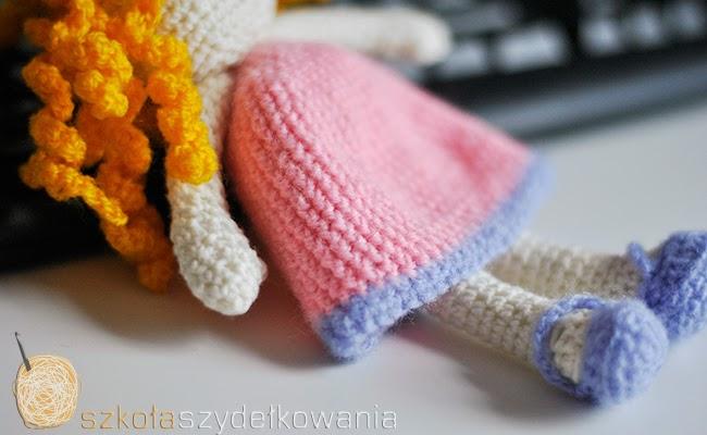 amigurmi, crochet doll, lalka na szydełku
