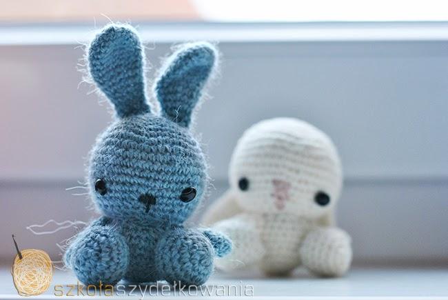 amigurumi, krolik na szydełku, crochet bunny,