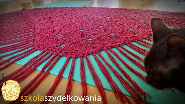 chusta na szydełku, crochet shawl, Sidewalk Shawl