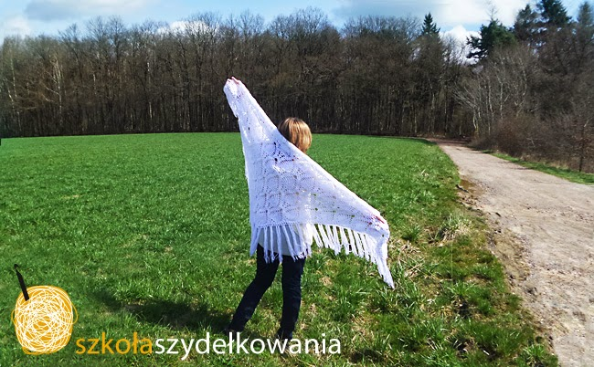 chusta na szydełku, crochet shawl