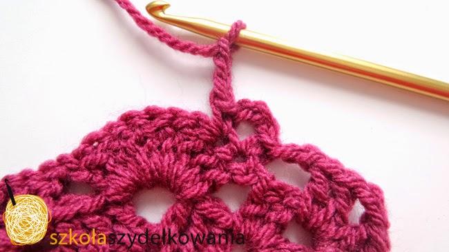 chusta na szydełku, crochet shawl, tutorial, Sidewalk Shawl