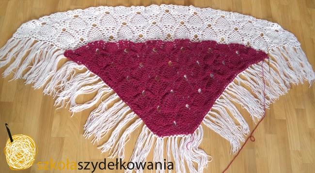 szydełkowanie, tutorial, chusta na szydełku, crochet shawl, Sidewalk Shawl