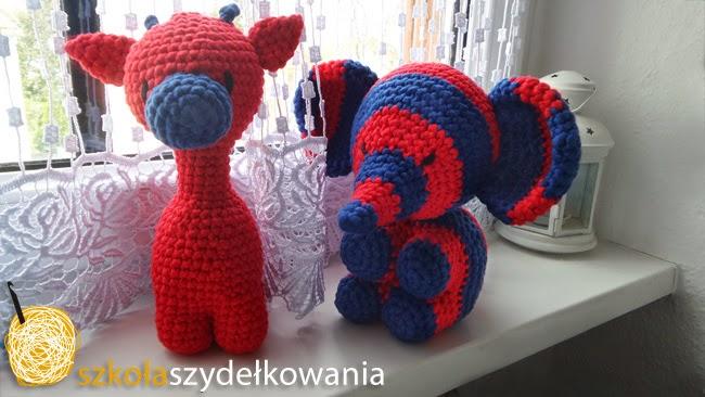 crochet elephant, słoń amigurumi