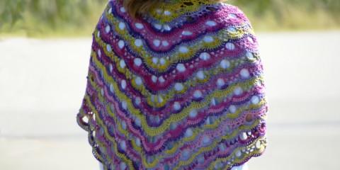 Virus-Tuch, Szkoła Szydełkowania, crochet shawl, chusta na szydełku