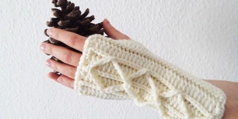 Szkoła Szydełkowania, szydełkowe mitenki, crochet mittens, tutorial, szydełkowanie