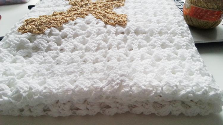 szydełkowy kocyk, crochet blanket, kocyk na chrzest, szydełkowanie, crochet, confirmation
