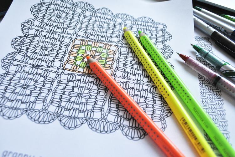 kolorowanki dla dorosłych, Szkoła Szydełkowania