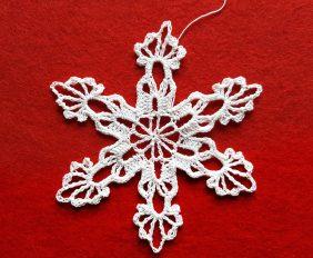śnieżynka, szydełkowa śnieżynka, crochet snowflake, Szkoła Szydełkowania, szydełkowanie, śnieżynka white witch