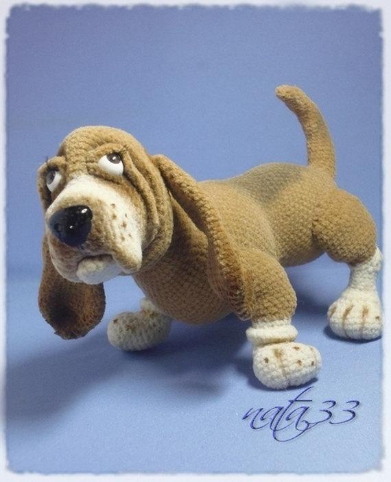pies rasy basset, amigurumi, instrukcja, prezenty dla rękodzielniczek, Szkoła Szydełkowania