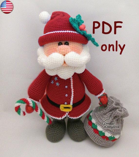 Święty Mikołaj, amigurumi, instrukcja, prezenty dla rękodzielniczek, Szkoła Szydełkowania