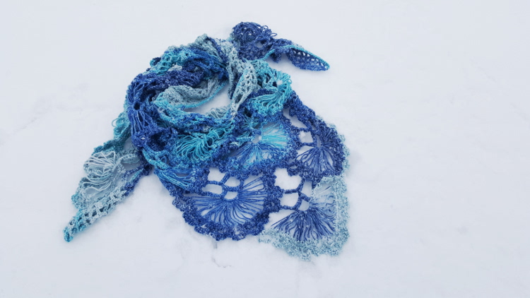 chusta szydełkowa, chusta na szydełku, crochet shawl, crochet, szydełkowanie, Szkoła Szydełkowania, Schachenmayr Florida Color