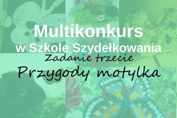 Szkoła Szydełkowania, multikonkurs w Szkole Szydełkowania, szydełkowy motyl, crochet butterfly