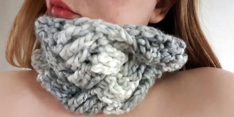 szydełkowy komin, crochet cowl, szydełkowanie, tutorial, crochet, Szkoła Szydełkowania