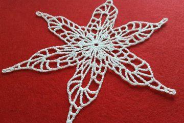 śnieżynka, szydełkowa śnieżynka, crochet snowflake, Szkoła Szydełkowania, szydełkowanie, śnieżynka winterfell