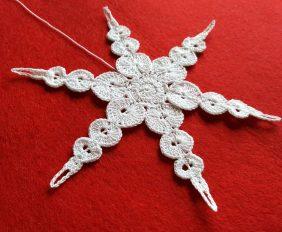 śnieżynka, szydełkowa śnieżynka, crochet snowflake, Szkoła Szydełkowania, szydełkowanie, śnieżynka frostfangs, frostfangs snowflake
